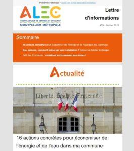 newsletter ALEC
