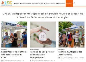 Refonte site internet ALEC Montpellier Métropole